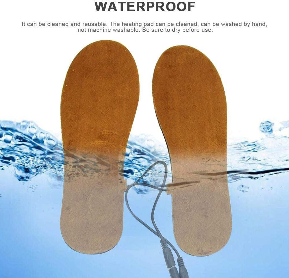 FOONEE Electric Heated Insoles 4-7/â/€/‹ Heating Insole For Hunting USB Powered Foot Warmer For Men And Women Working And Skiing