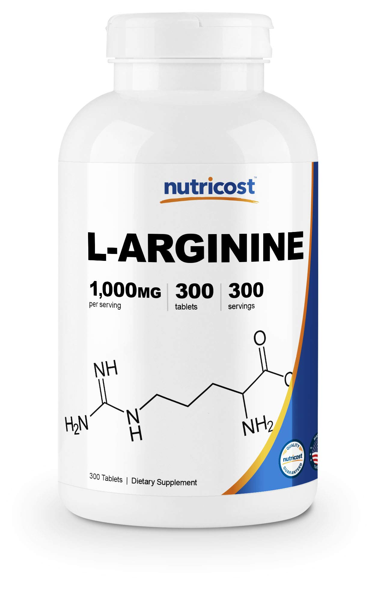 Nutricost L-Arginine 1000mg, Amino Acid Tablets (300 Tablets) by Nutricost