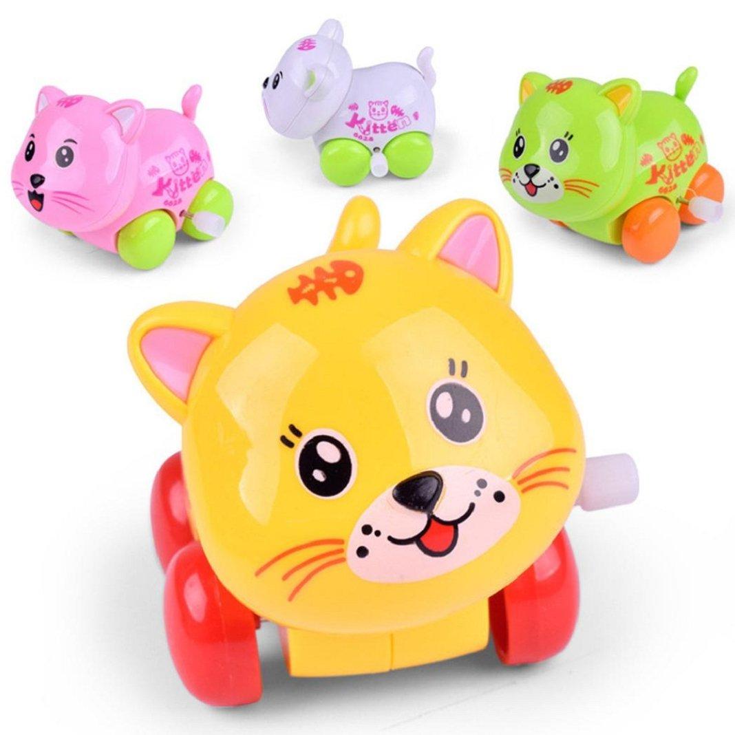 Sisit Clockwork Funny Toy Cartoon Cat Clockwork Car Jouets éducatifs (Afficher comme Image)