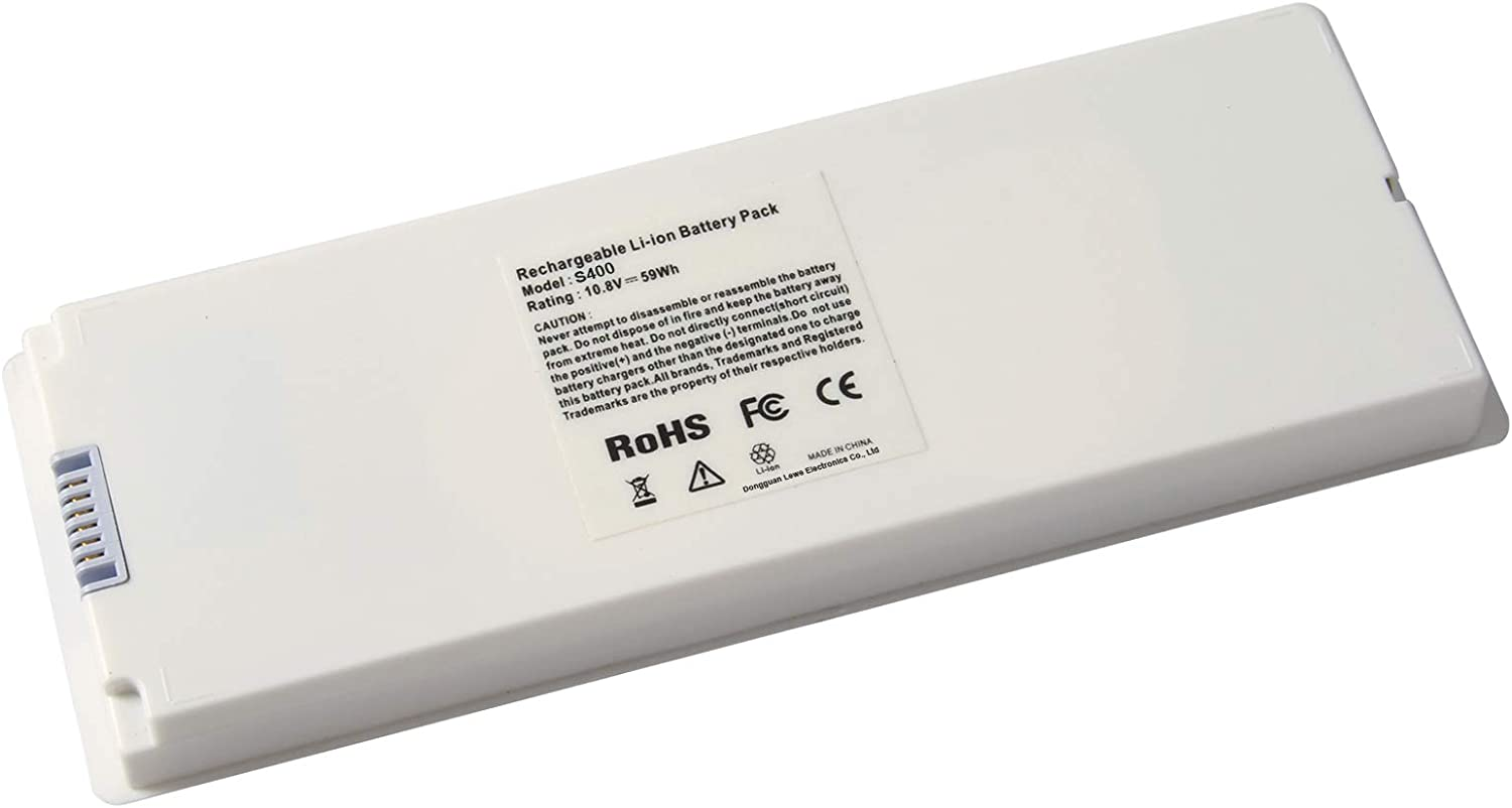 ARyee 59Wh 10.8V A1185 Battery Laptop Battery Replacement for Apple MacBook 13 A1185 A1181 MA561 MA561FE/A MA561G/A MA561J/A