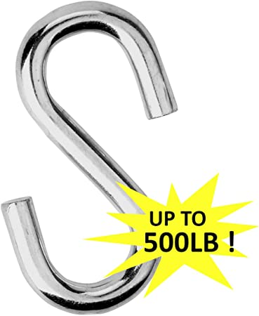 TC S Hook Chain Carabiners 1.5x0.120 Clips Connectors S-Shape 1.5 316 Stainless S- Hook Hook Links 6 Pack by Angelika /& Sun