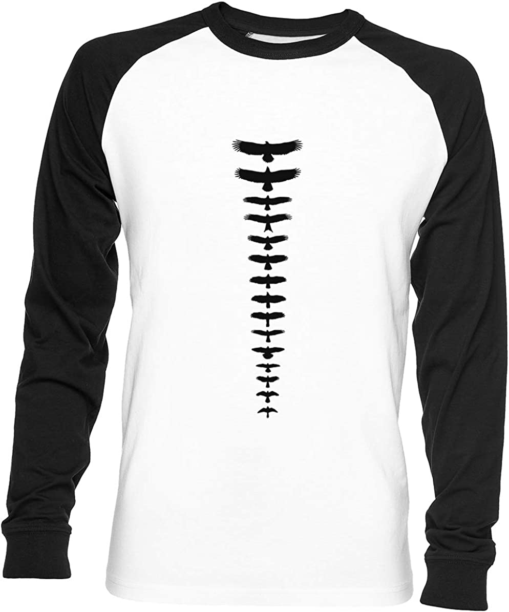 Reino Unido Aves De Presa - Negro Unisex Hombre Mujer Béisbol Camiseta Blanco Unisex Baseball T-Shirt: Amazon.es: Ropa y accesorios