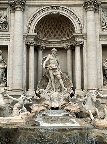 Home Comforts Canvas Print Trevi Rome Italian Fontana Di Trevi Fountain Italy Stretched Canvas 10 x 14