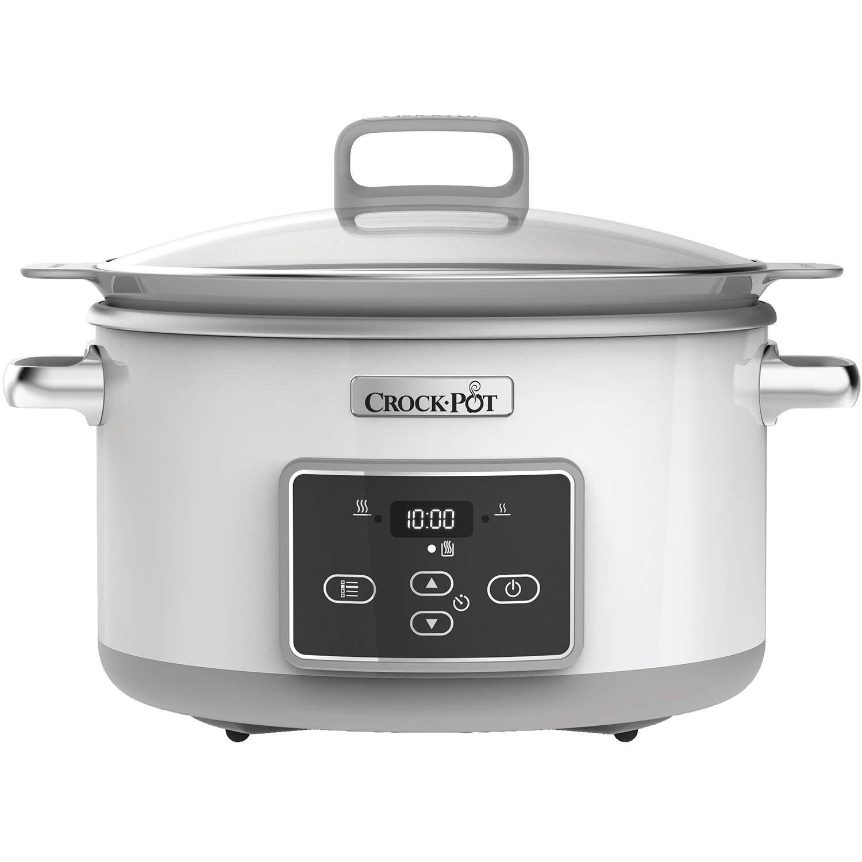 Crock-Pot Csc026X Duraceramic - Olla de cocción lenta de 5 L, Blanco product