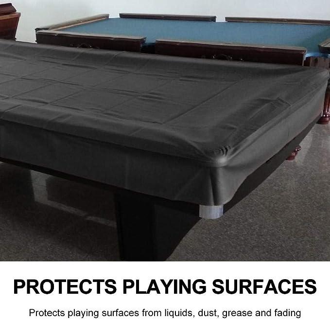 GOTOTOP Tela de Cubierta para mesas para Mesa de Billar 8 FT estándar, Cubierta Impermeable, Cobertura mesas Billar, Snooker Table Pool Table Carcasa, Negro: Amazon.es: Deportes y aire libre