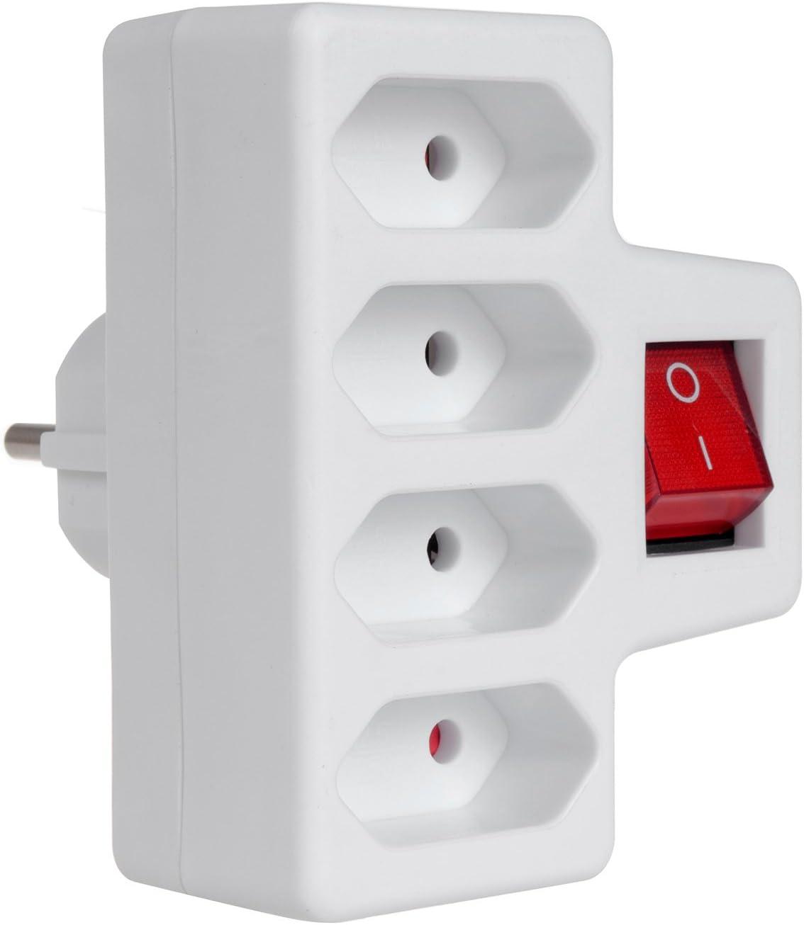 2-4 Fach Steckdose Steckdosenleiste Mehrfach Steckdosenverteiler Adapter EU Plug