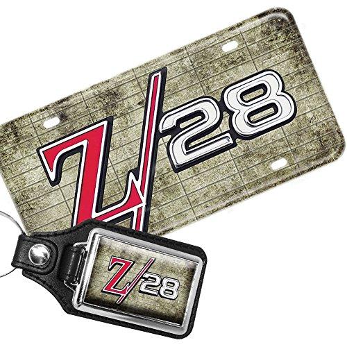 Brotherhood Chevrolet Camaro Z28 Emblem Aluminum License Plate and Matching Key Ring