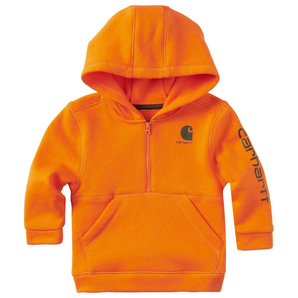 Carhartt Baby Boys Long Sleeve Sweatshirt, Dark Orange, 3M by Carhartt