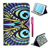 Galaxy Tab 3 7.0 Case, Firefish Kickstand Feature High Quality PU Leather Wallet with Card Slots Damage Resistance Case for Samsung Galaxy P3200 - Owe-Eyes
