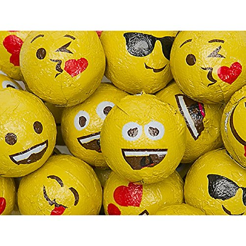Comuter Emoji Chocolate Foiled Balls 2 Pound Bag