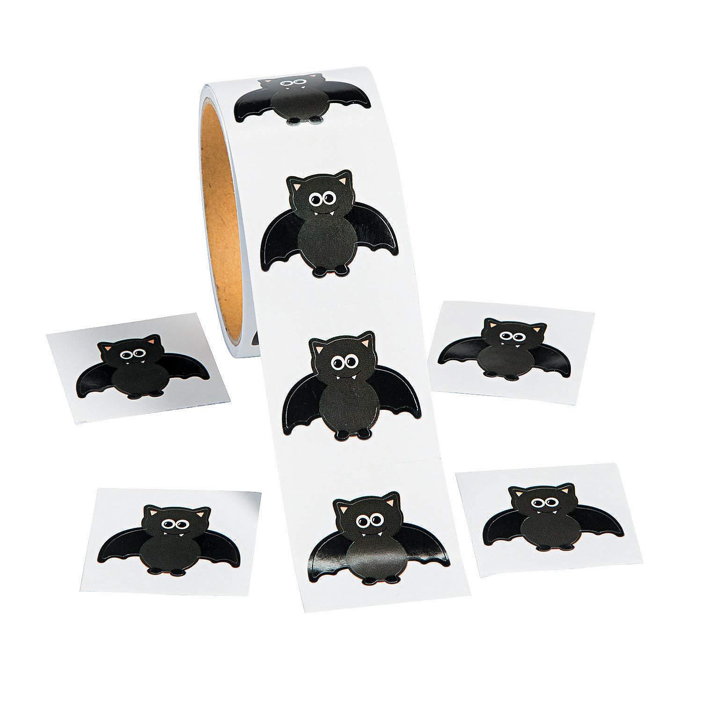 Fun Express Bat Roll Stickers for Halloween