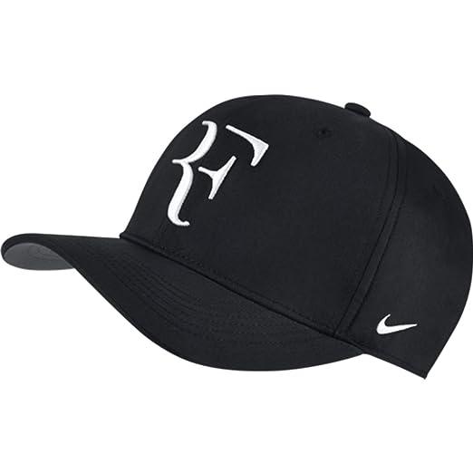 Nike Mens Roger Federer RF Classic 99 Aerobill Tennis Hat Black Flint  Grey White a74039d2171