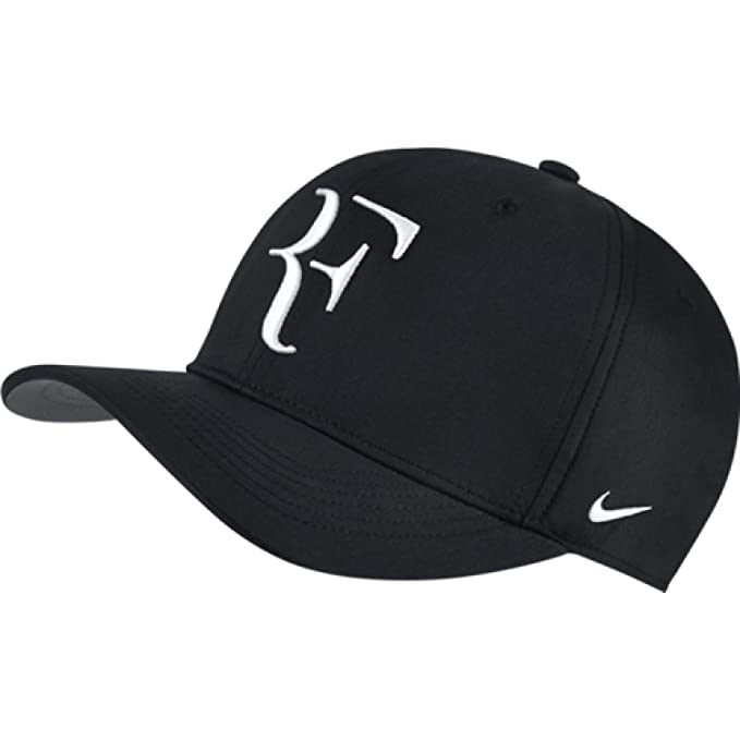570ae9ac3c6 Nike Mens Roger Federer RF Classic 99 Aerobill Tennis Hat Black Flint  Grey White  Amazon.ca  Sports   Outdoors