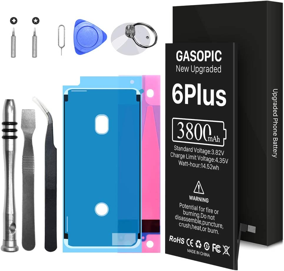 [3800mAh] Battery for iPhone 6 Plus, Upgraded New 0 Cycle Higher Capacity Replacement Battery , with Professional Repair Tool Kit and Instructions