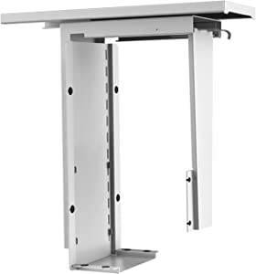 AIMEZO 360⁰ Swivel CPU Holder Under Desk Mount Computer Tower Holder PC Mount Stand with Adjustable Height Width,Holds up to 50lbs