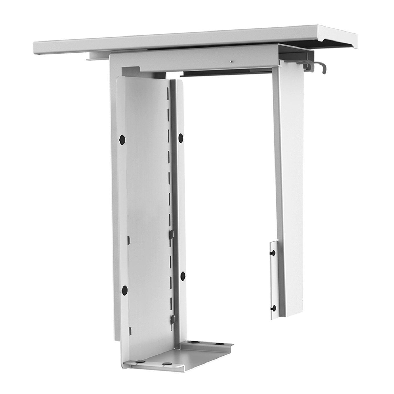 AIMEZO CPU Holder Under Desk Mount Computer Tower Holder PC Mount Stand Adjustable Height Width,360⁰ Swivel, Steel Construction