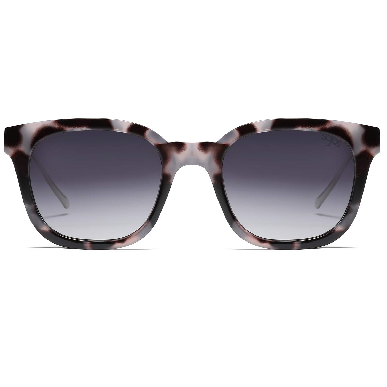 SOJOS Vintage Polarized Sunlgasses Womens Mens Square Frame