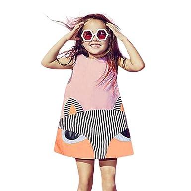 Mitlfuny Mädchen Kleidung Fox Prinzessin Sleeveless Party Kleider ...