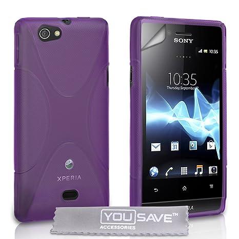 Amazon.com: YouSave - Carcasa de gel para Sony Xperia Miro ...