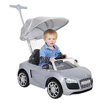 Audi Push Buggy With Canopy Silver Silver Amazon Co Uk Toys