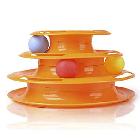 SUPEWOLD Pelota de ejercicio para gatos, inteligencia, disco de triple juego, juguetes nteractivos