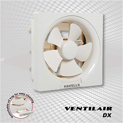 6. Havells FHVVEDXOWH08 Ventil Air Dx 200mm Sweep size Fan (Off White)
