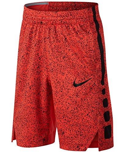(Nike Elite Basketball Dry-Fit Shorts Max Orange/Black (X-Small))