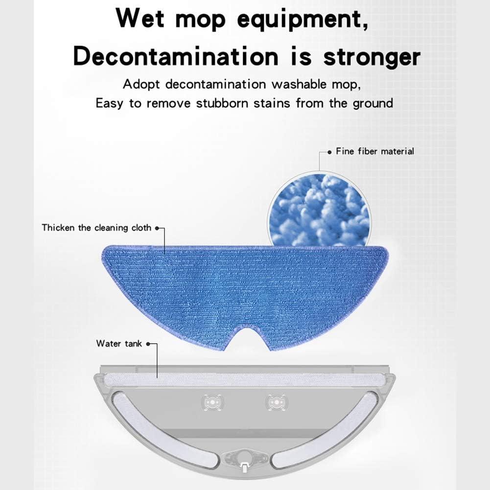 N / A Robotique Aspirateur Robot, APP Télécommande Recharge Automatique Turbine Brosse Humide Planification Mopping Sweeper, Nettoyage des Tapis ménagers (Color : Noir) White