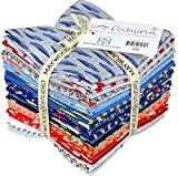 Maywood Studio 30 pc Cotton Fabric Fishline Fat Quarter Bundle