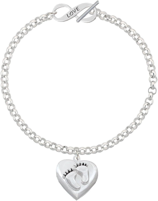 8 DO Grandma Infinity Toggle Chain Bracelet Silvertone Caduceus