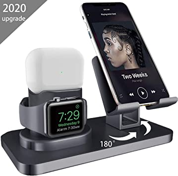 Soporte de Carga 3 en 1 para Apple Watch iPhone AirPods Pro ...