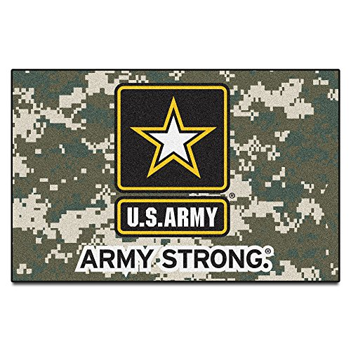 Military Fanmats Starter Rugs (Fanmats Military 'Army' Black Knights Nylon Face Starter Rug)