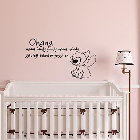 Ohana Wall Decals Nursery- Ohana Means Family Wall Decal Quote Lilo and Stitch Vinyl Sticker  sc 1 st  Amazon.com : ohana wall decal - www.pureclipart.com