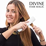 Divine Hair Magic Cepillo Alisador de Pelo Eléctrico, Color Gris - 350 gr