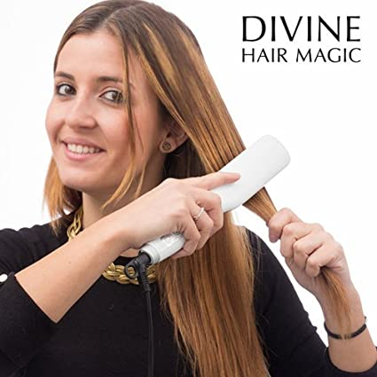 Mamzelle O Magic Straight - Cepillo alisador electrico con recubrimiento ceramico, 25 W, color
