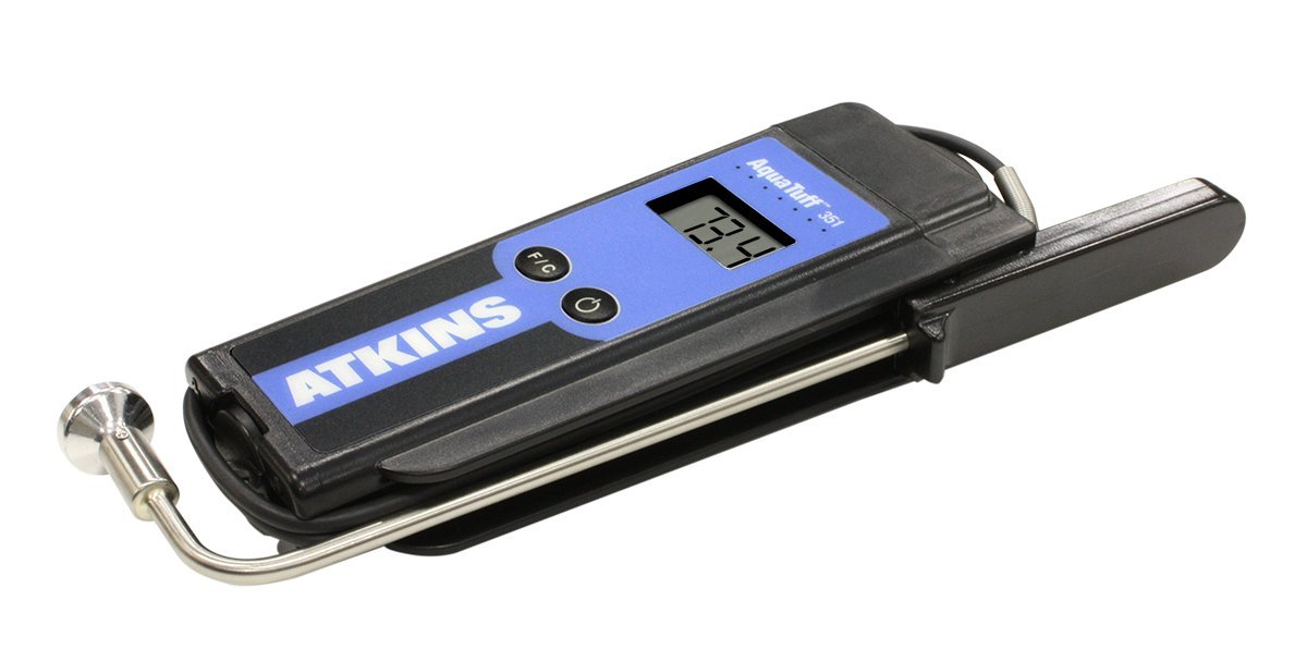 Cooper-Atkins 35135 Series 351 AquaTuff Wrap&Stow Waterproof Thermocouple Instruments with Angled Surface Probe, -100 to +500 degrees F Temperature Range