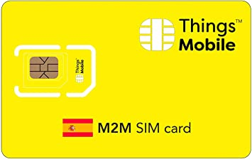Tarjeta SIM M2M ESPAÑA - Things Mobile: Amazon.es: Electrónica