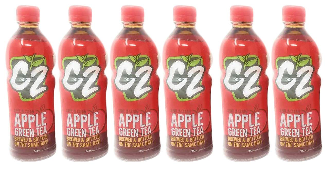 C2 Apple Green Tea 16.91oz (500 ml), 6 Pack