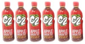 C2 Apple Green Tea 16.91oz (500 ml), 6 Pack
