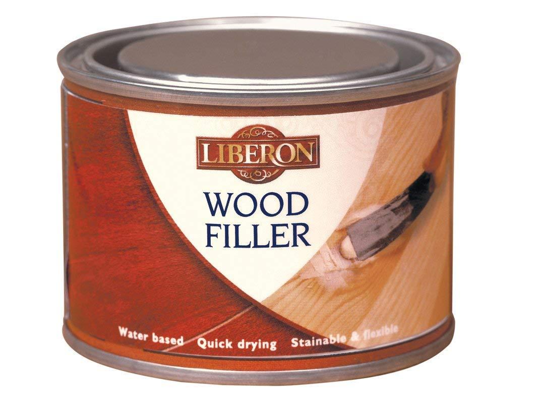 Liberon Multi-Purpose Wood Filler Tin 125 ml - Antique Pine, light wood color LIBWFAP125