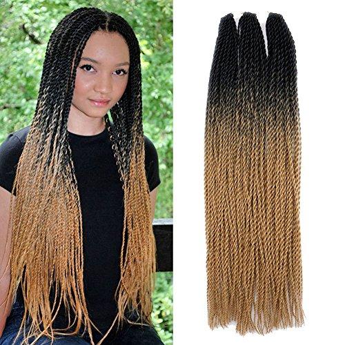 3pcslot Senegalese Twist Crochet Braids Hair 100gpcs 22 24