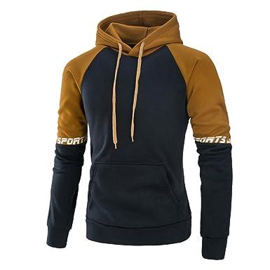 Highdas Herren Sweatshirt Kapuzenpullover Sweater Sport Sweatjacke  Langarmshirt Outwear Sweatshirts Kapuze Pullover Sweaters Rot Schwarz Orange 86d8f4a6b7