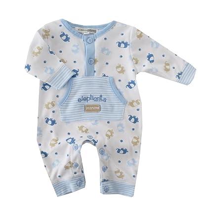 NUEVO | Pelele Mono Pijama Blanco de azul Elefante | 50 56 62, 68 blanco