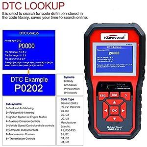 KONNWEI OBD2 Scanner, OBD Code Reader Code Scanner OBDII & EOBD Car Engine Fault CAN Diagnostic Scan Tool with I/M Readiness(Updated 2018)