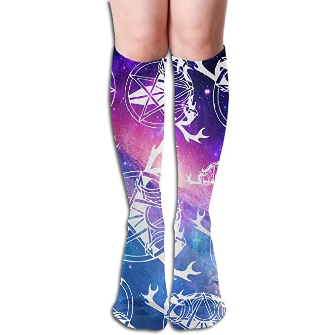 3684efb04 Amazon.com  Pagan Lover Women Cotton Cute Knee High Socks  Clothing