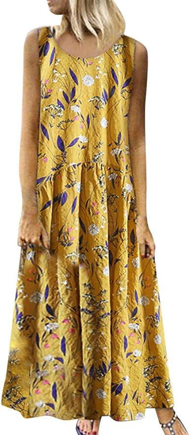 COZOCO Mujer Verano De Playa Vestido De Verano Vestido Verano Mujer Camiseta AlgodóN Casual Tallas Grandes Vestido De Tallas Grandes De Playa: Amazon.es: Ropa y accesorios