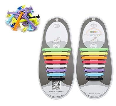 447cd8f24 16 Cadarços Elástico Silicone Colorido Adulto Juvenil para 1 Par de Tênis  Sapato Calçado Frete Grátis