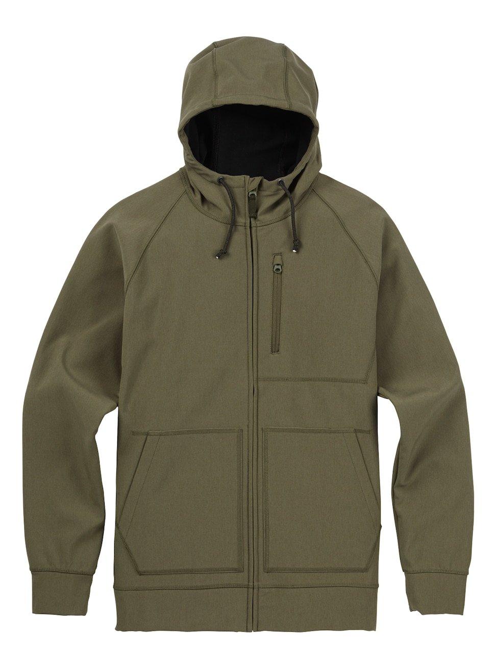 Burton Men's Bonded Full-Zip Hoodie, Dusty Olive Heather, XX-Large