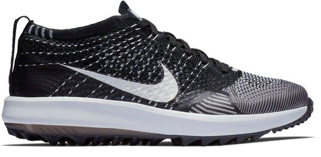 a36f09770a9c Amazon.com  Nike Women s Flyknit Racer G Spikeless Golf Shoes Black White  Size 11  Sports Collectibles