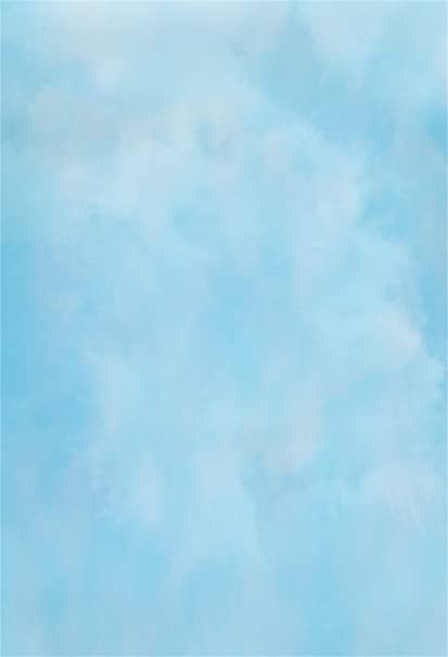 Csfoto 4x6ft Background For Abstract Blue Sky Solid Blue Photography Backdrop Blur Abstract Art Artwork Celebration Party Decor Personal Photo Adult